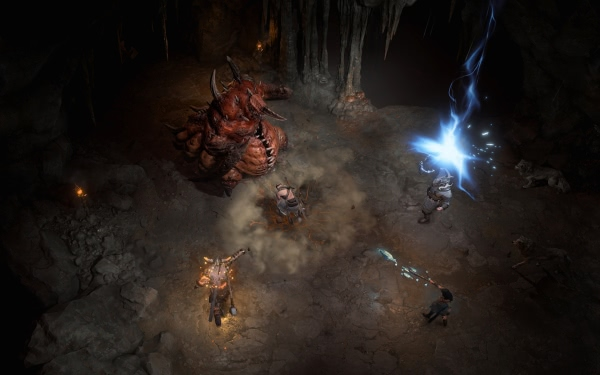 Gameplay-Videos vom Barbaren, Zauberer und Druiden aus Diablo 4