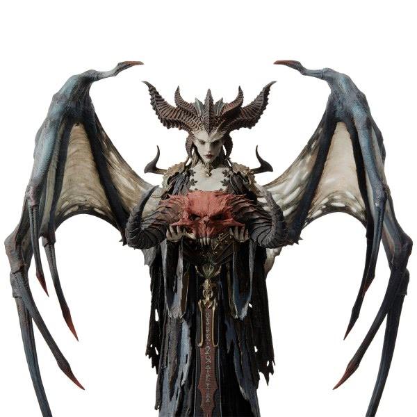 Diablo 4: Statue von Lilith im Blizzard Store