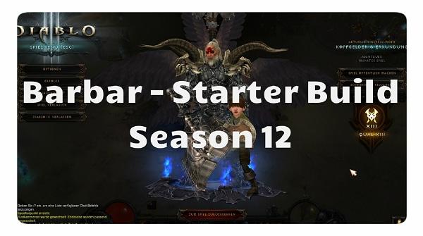 Barbar: Starter Build für Season 12