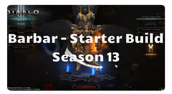Barbar: Starter Build für Season 13