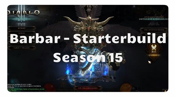 Barbar: Starter Build für Season 15