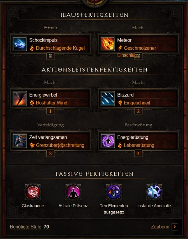 Diablo Bester Zauberer Build
