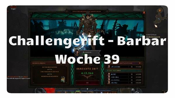 Challenge Rift: Woche 39 (Barbar)