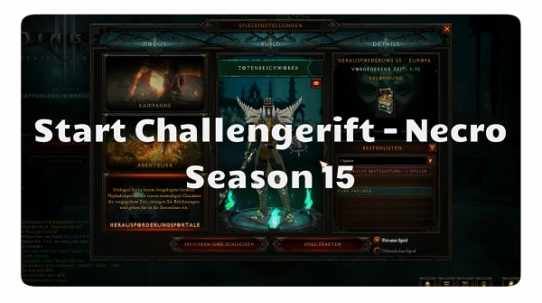 Challenge Rift zum Seasonstart (Necro)