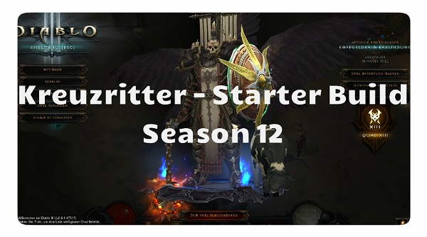 Diablo  Kreuzritter Season  Farm Build