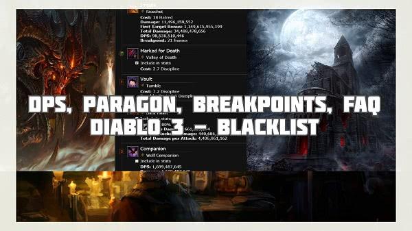 Blacklist - Paragon, DPS, Breakpoints