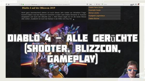 Diablo 4: Alle Gerüchte (Shooter, Blizzcon, Gameplay)