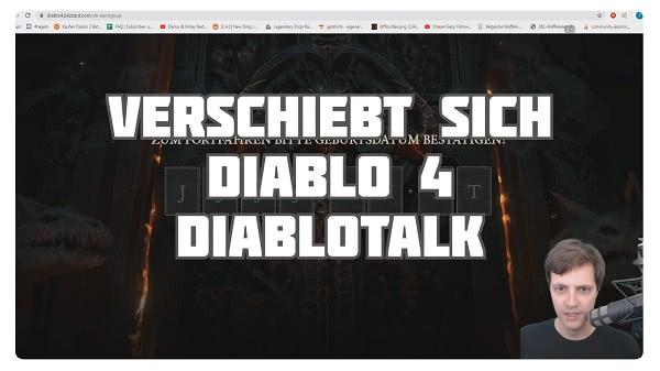 Diablotalk: Verschiebt sich Diablo 4 ?