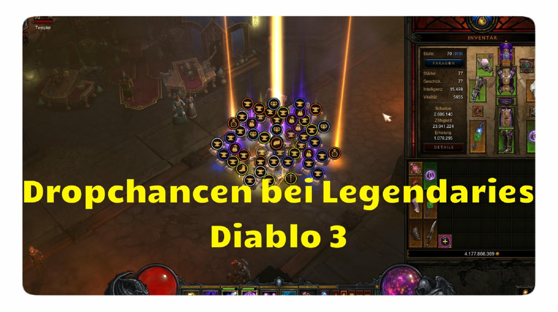 Dropchancen bei Legendaries
