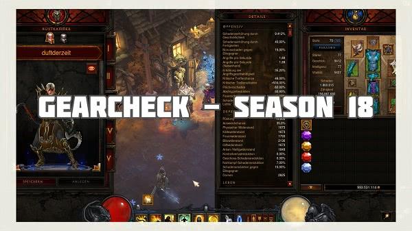 Season 18: Gearcheck