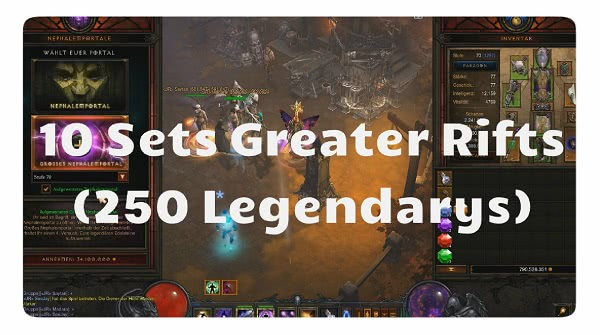 10 Sets Greater Rifts