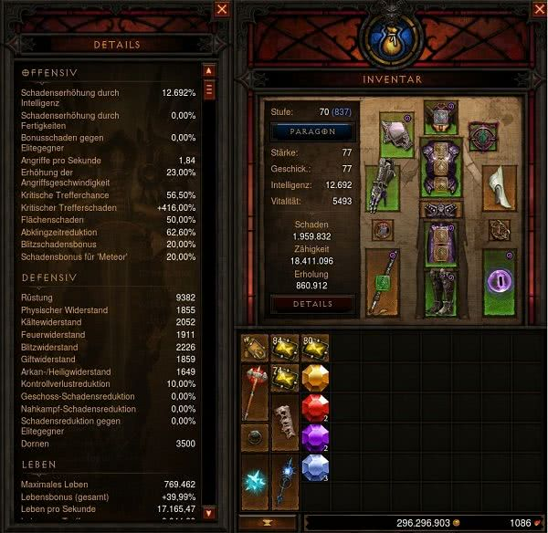 Diablo  Archon Build Stats