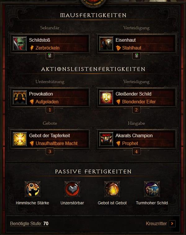 Diablo  Kreuzritter Roland Build