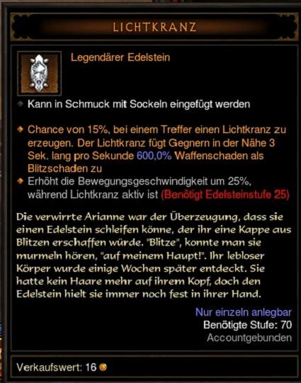 Lichtkranz Edelstein