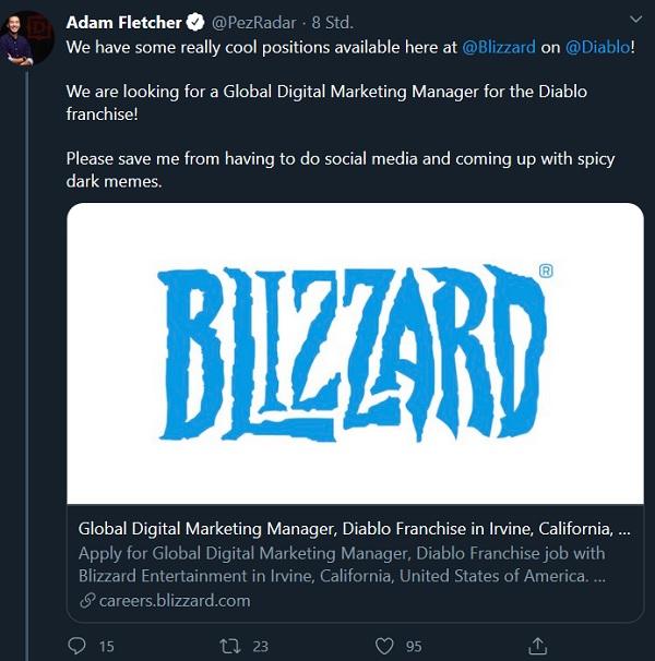 Diablo braucht mehr Leute! und es kommt eine Blizzconline 2021