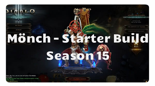Mönch: Starter Build Season 15