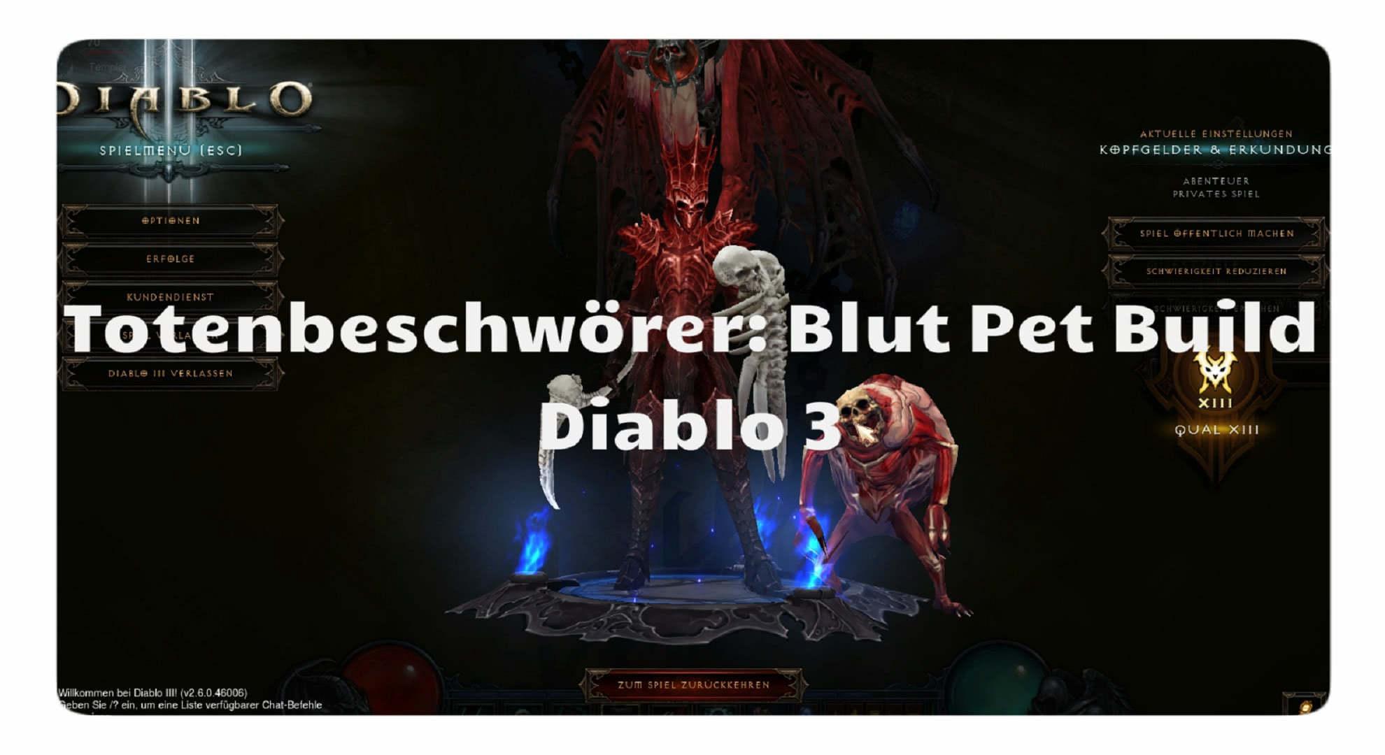 Diablo  Build Pet Necro