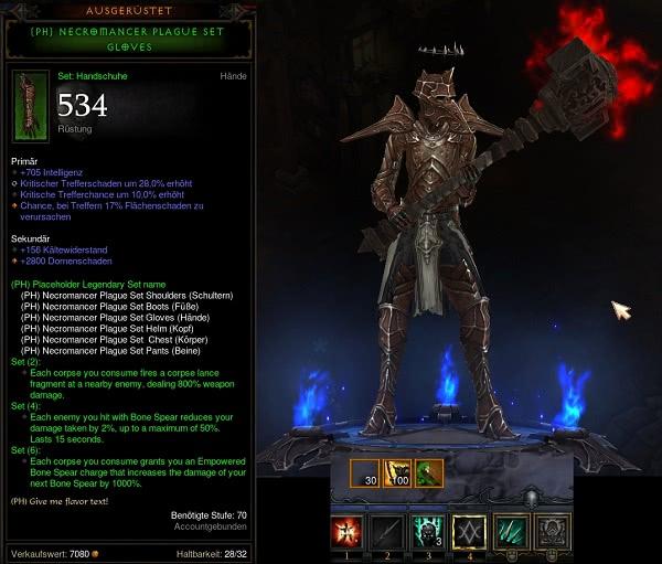 Diablo  Bones Of Rathma Set Build
