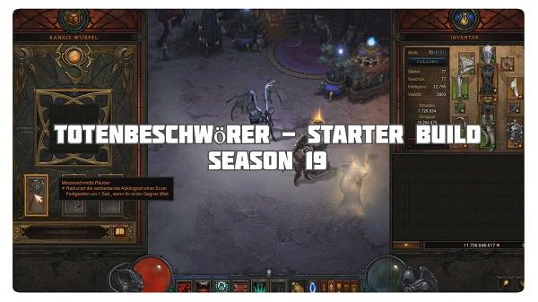 Totenbeschwörer: Starter Build für Season 19
