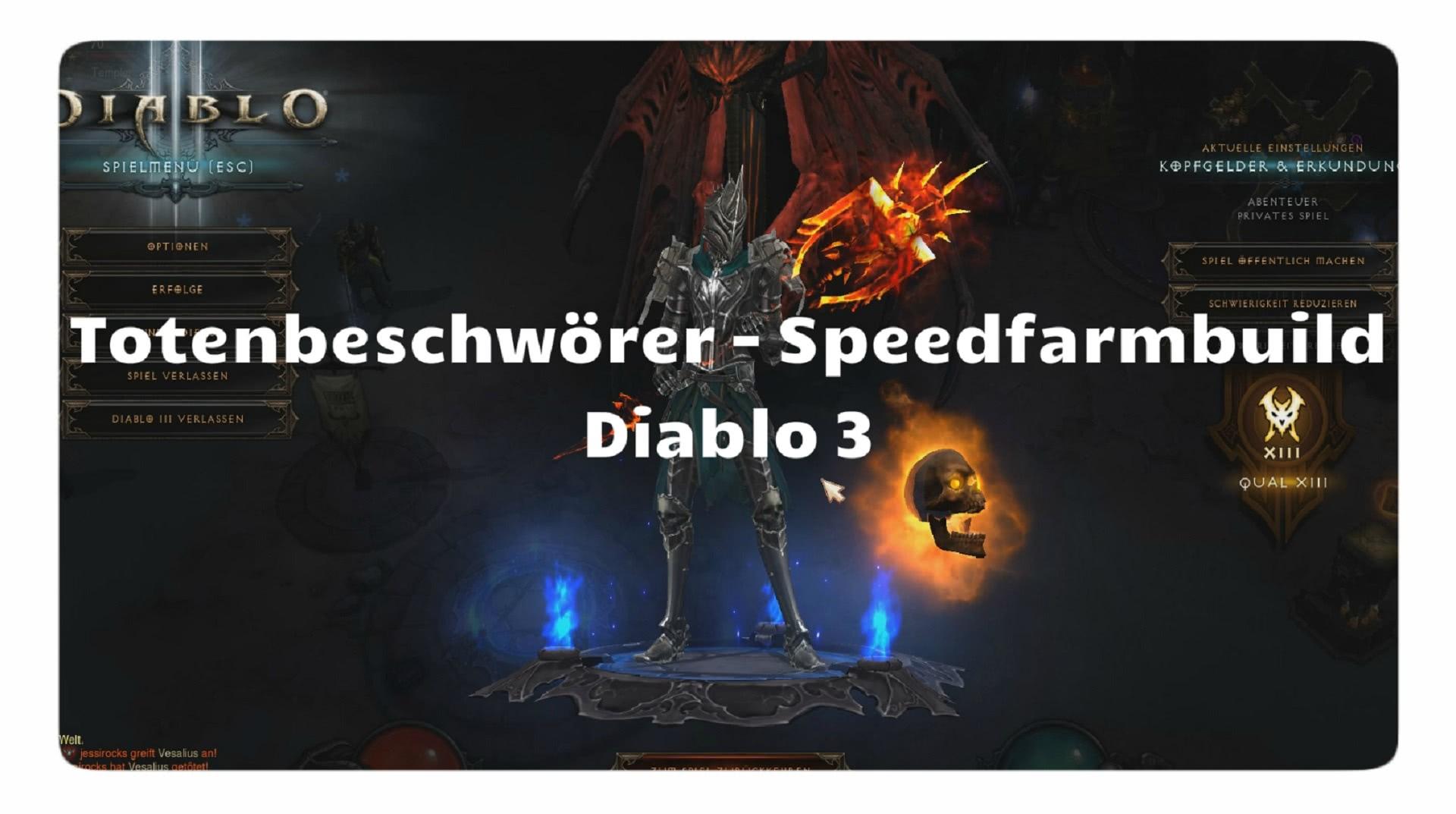 Diablo  Necro Speed Farm Build