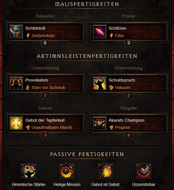 Diablo  Kreuzritter Schuldspruch Build