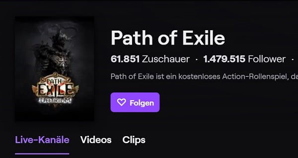 Path of Exile on Twitch