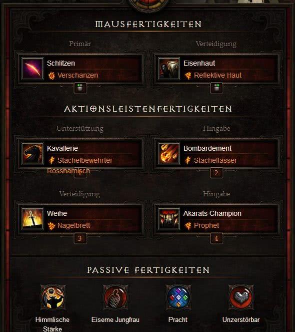 Diablo  Kreuzritter Akkhans Build