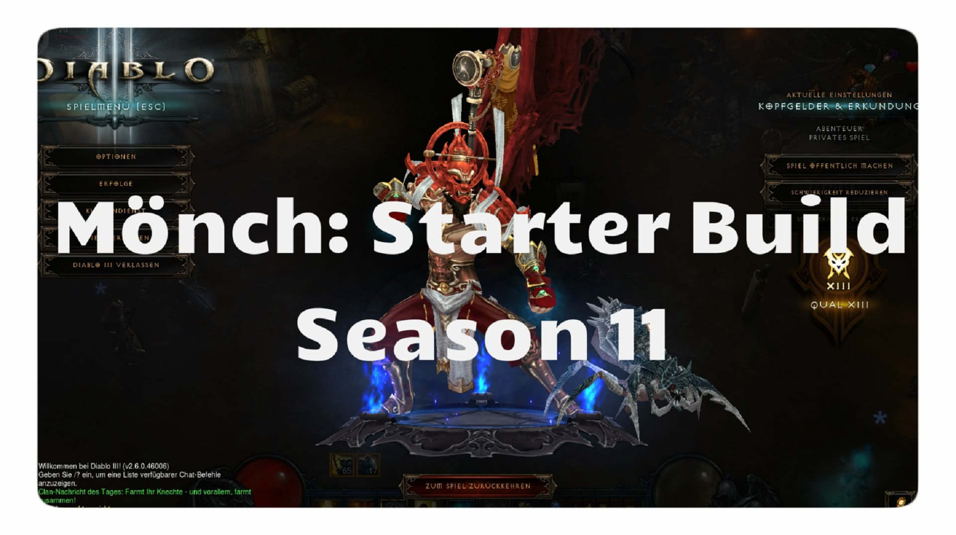 Diablo  Monk Build Season  Paragon
