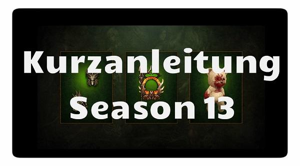 Season 13: Kurzanleitung