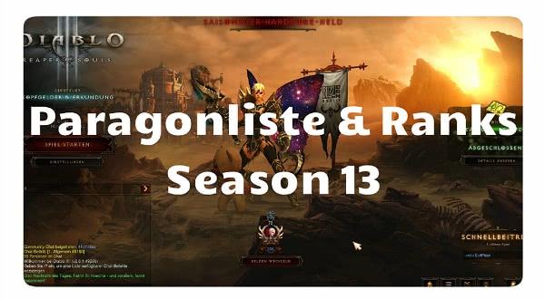 Paragonliste für Season 13