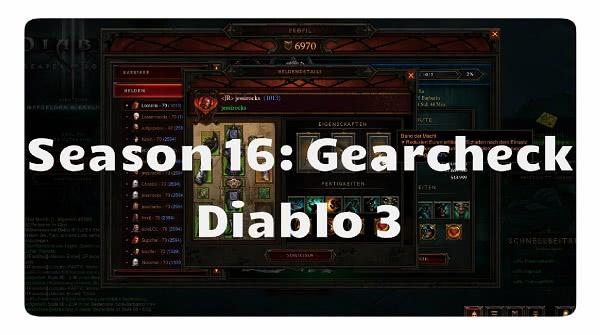Season 16: Gearcheck