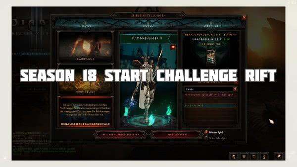 Challenge Rift zum Seasonstart von S18