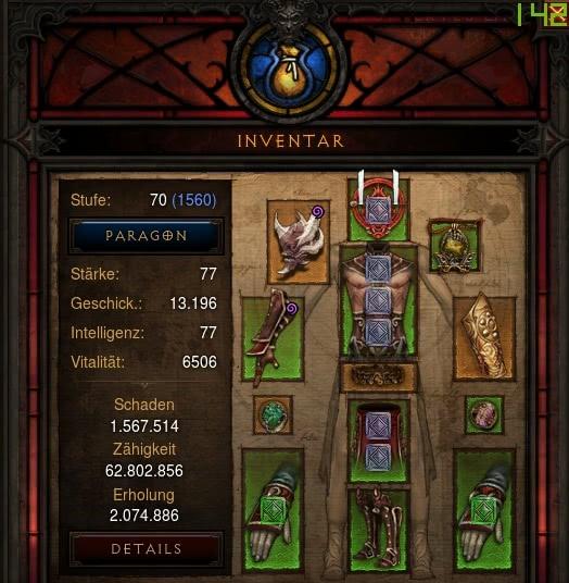 Diablo Monk Hardcore Build