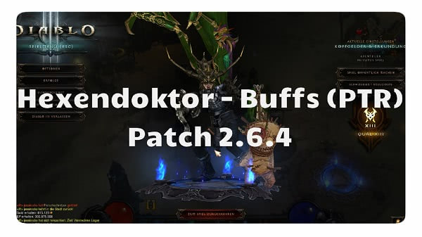 Patch 2.6.4: Hexendoktor Buffs