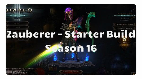 Zauberer: Season 16 Starter Build
