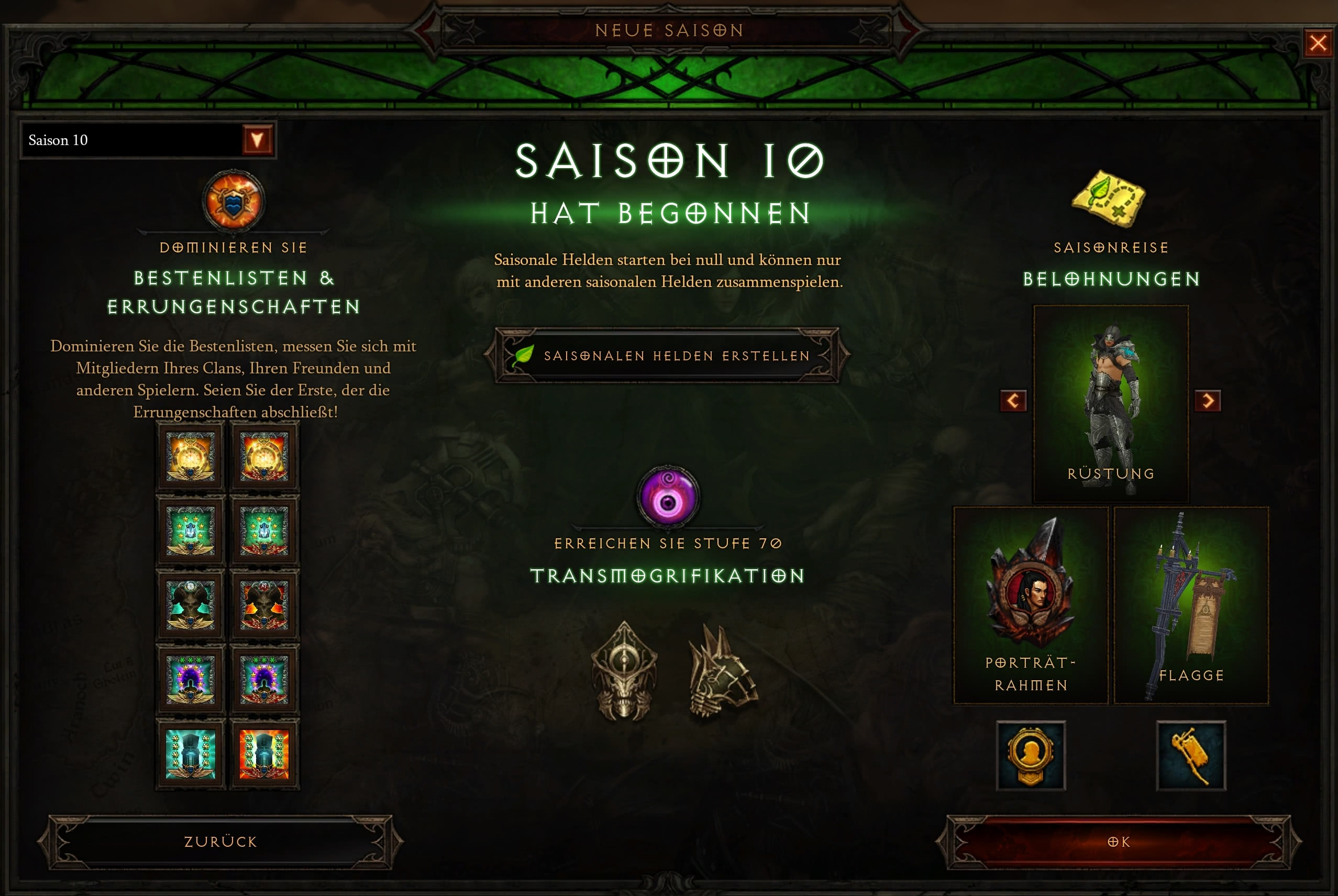 Season 10: Start, Ende, Sets und Legendarys - Diablo 3